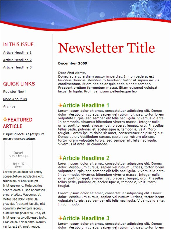 Winter Newsletter Template Free Best Of Holiday Email Template – 18 Free Jpg Psd format Download
