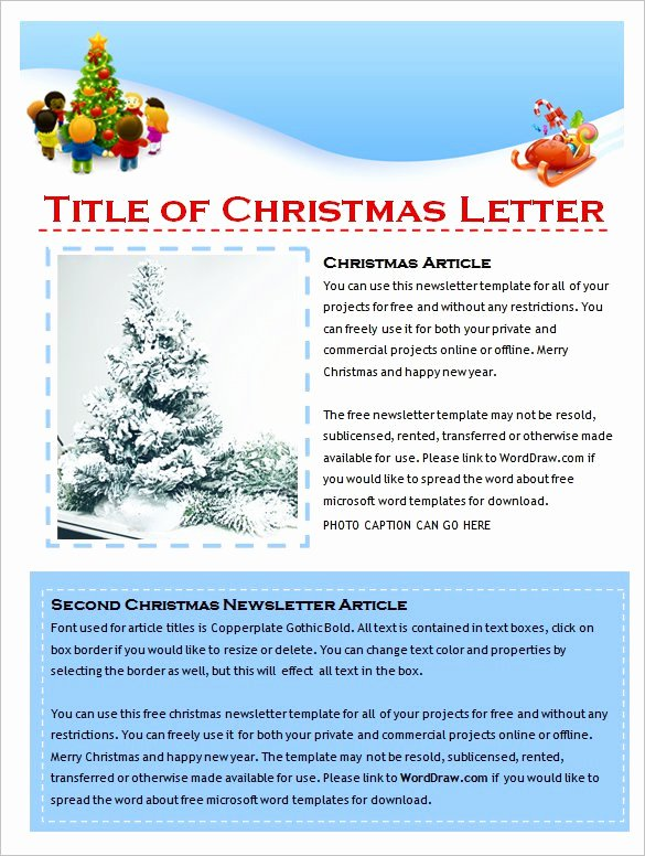 Winter Newsletter Template Free Elegant 27 Microsoft Newsletter Templates Doc Pdf Psd Ai
