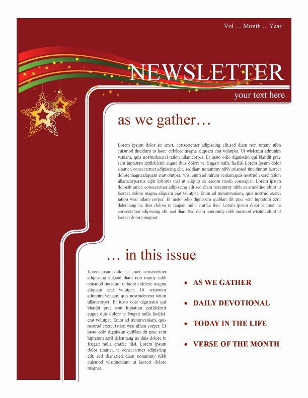 Winter Newsletter Template Free Elegant Holiday Newsletter