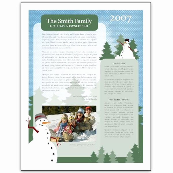 Winter Newsletter Template Free Fresh 8 Great Microsoft Publisher Newsletter Templates