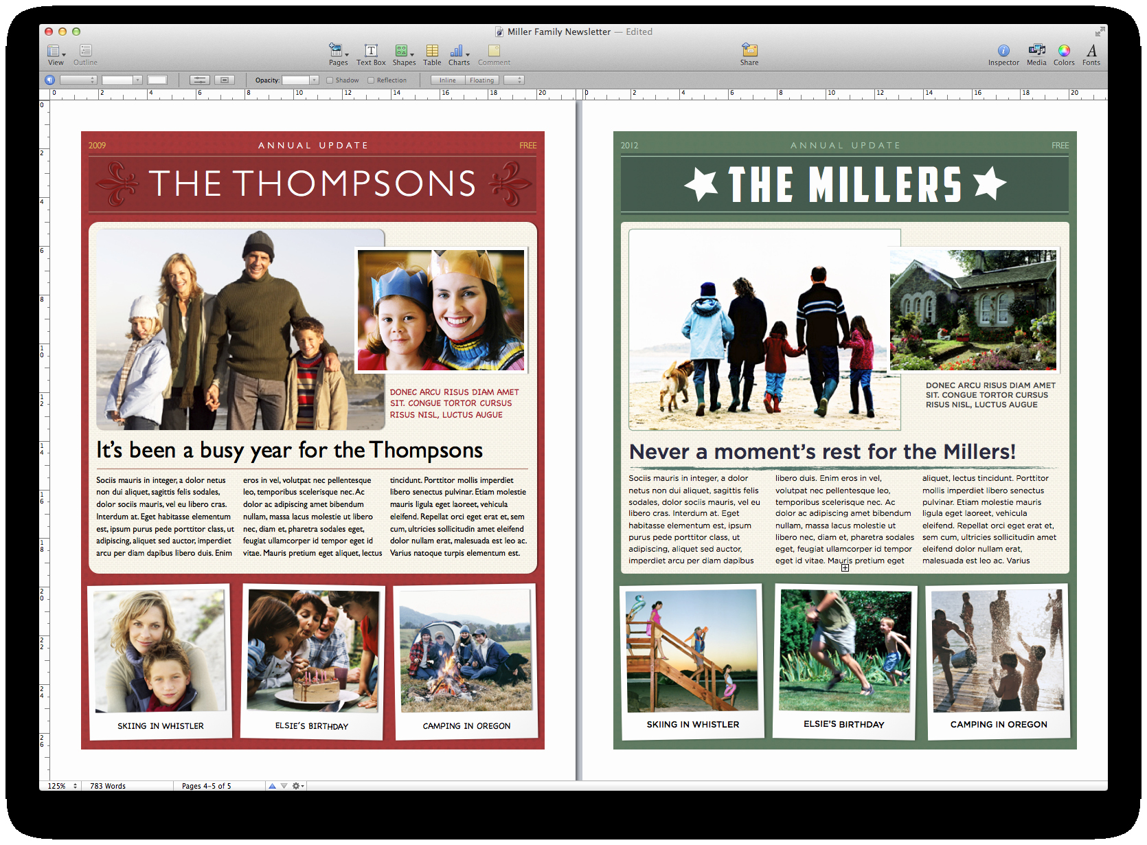 Winter Newsletter Template Free Fresh Create A Holiday Newsletter with Pages or I