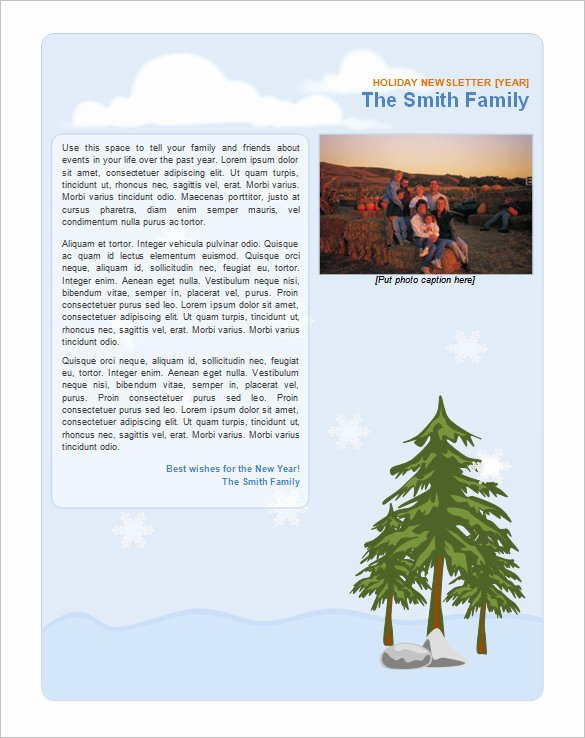 Winter Newsletter Template Free Inspirational 9 Holiday Newsletter Templates – Free Word Documents