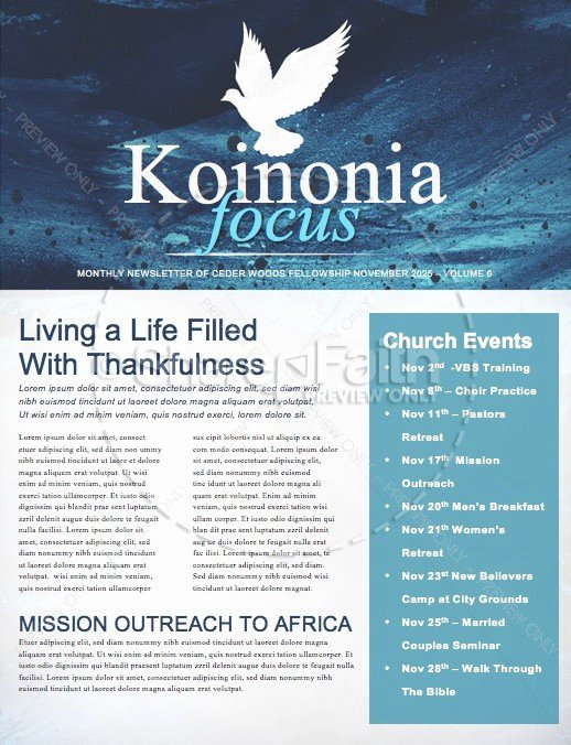 Winter Newsletter Template Free Inspirational Fall Winter Religious Newsletter Template