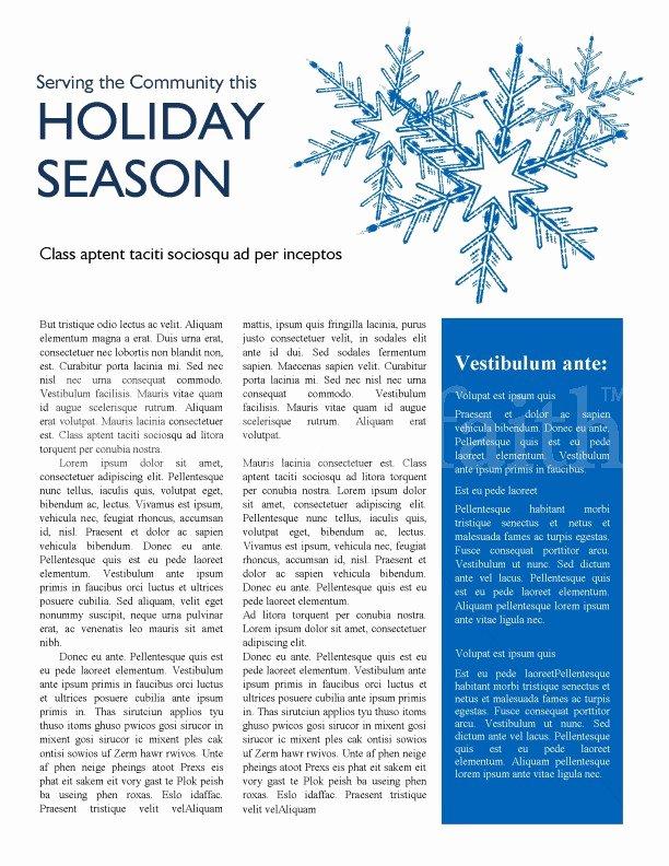 Winter Newsletter Template Free Inspirational Winter Newsletter Template