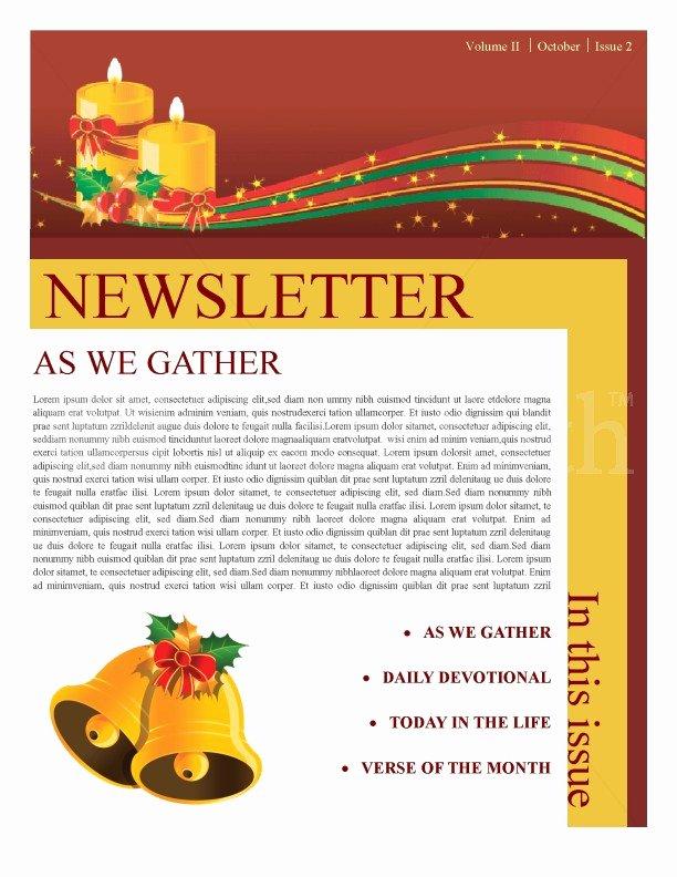 Winter Newsletter Template Free Lovely Christmas Newsletter Template