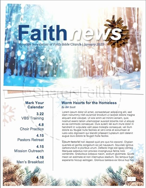 Winter Newsletter Template Free Lovely Light Of the World Christmas Newsletter Template