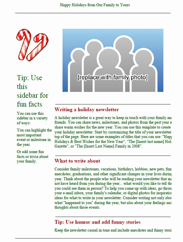 Winter Newsletter Template Free Unique 3 Holiday Newsletter Template Free Download