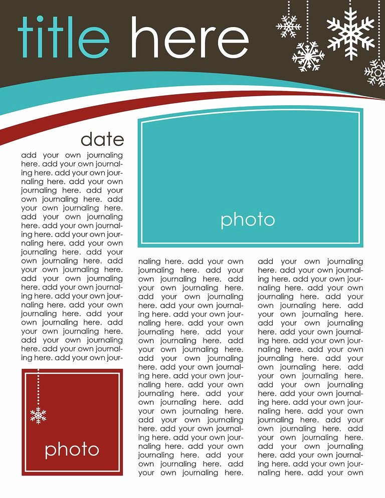 Winter Newsletter Template Free Unique 49 Free Christmas Letter Templates that You Ll Love