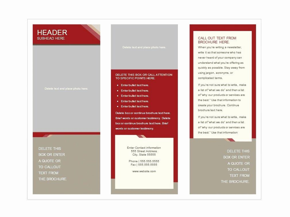 Word Brochure Template Free Awesome 31 Free Brochure Templates Word Pdf Template Lab