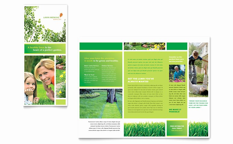Word Brochure Template Free Best Of Lawn Mowing Service Brochure Template Word & Publisher