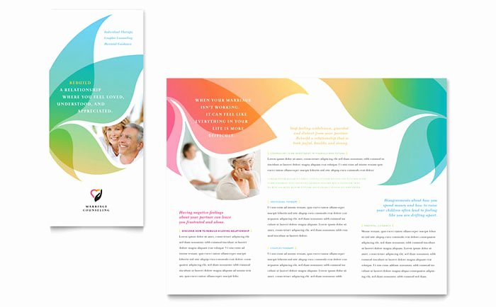 Word Brochure Template Free Elegant Marriage Counseling Tri Fold Brochure Template Design