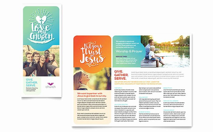 Word Brochure Template Free Fresh Free Church Brochure Templates for Microsoft Word