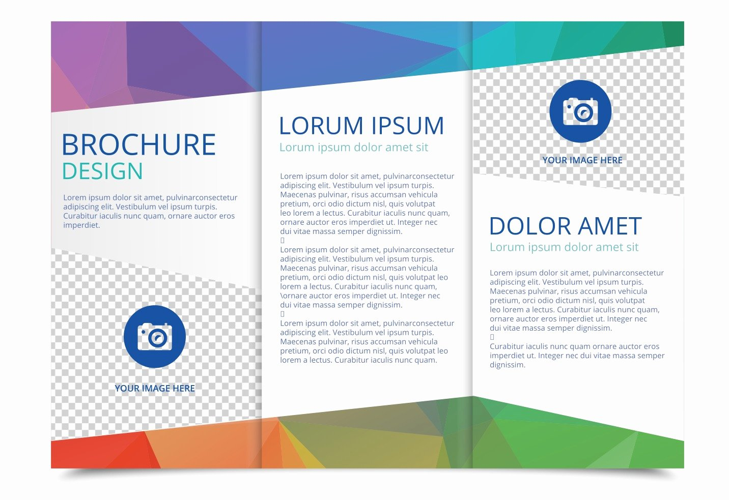 Word Brochure Template Free Lovely Tri Fold Brochure Vector Template Download Free Vector