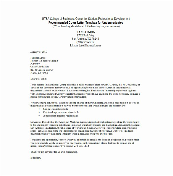 Word Doc Cover Letter Template Beautiful Sales Cover Letter Template – 8 Free Word Pdf Documents