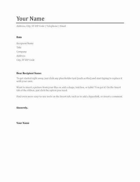 Word Doc Cover Letter Template Inspirational Cover Letter Template Word Doc