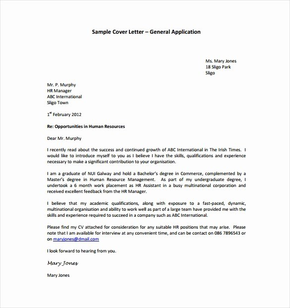 Word Doc Cover Letter Template Lovely Sample A Cover Letter Pdf Letter Template