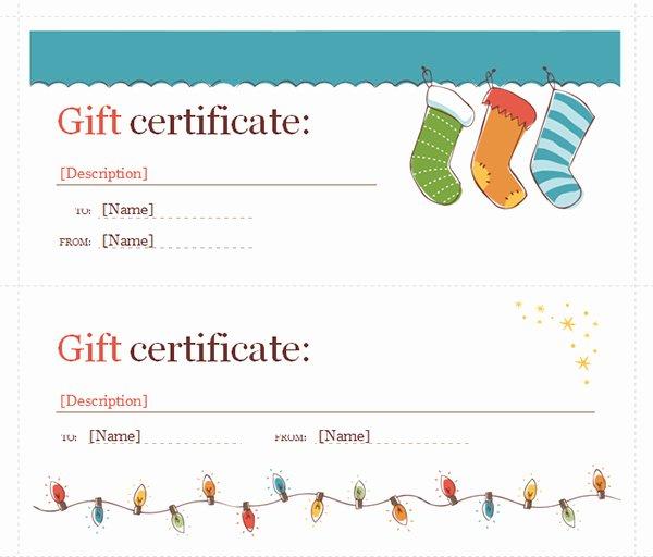 Word Template Gift Certificate Elegant Printable Gift Certificate Templates