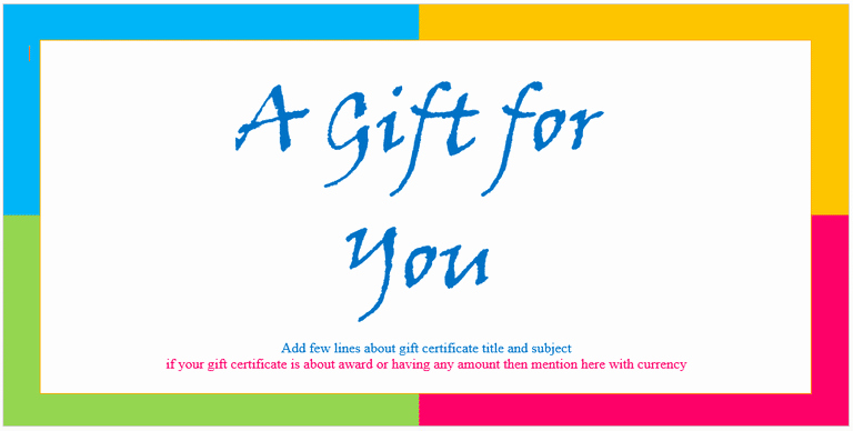 Word Template Gift Certificate Fresh Certificate Templates