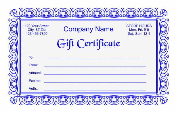 Word Template Gift Certificate Inspirational Gift Certificate Template 2