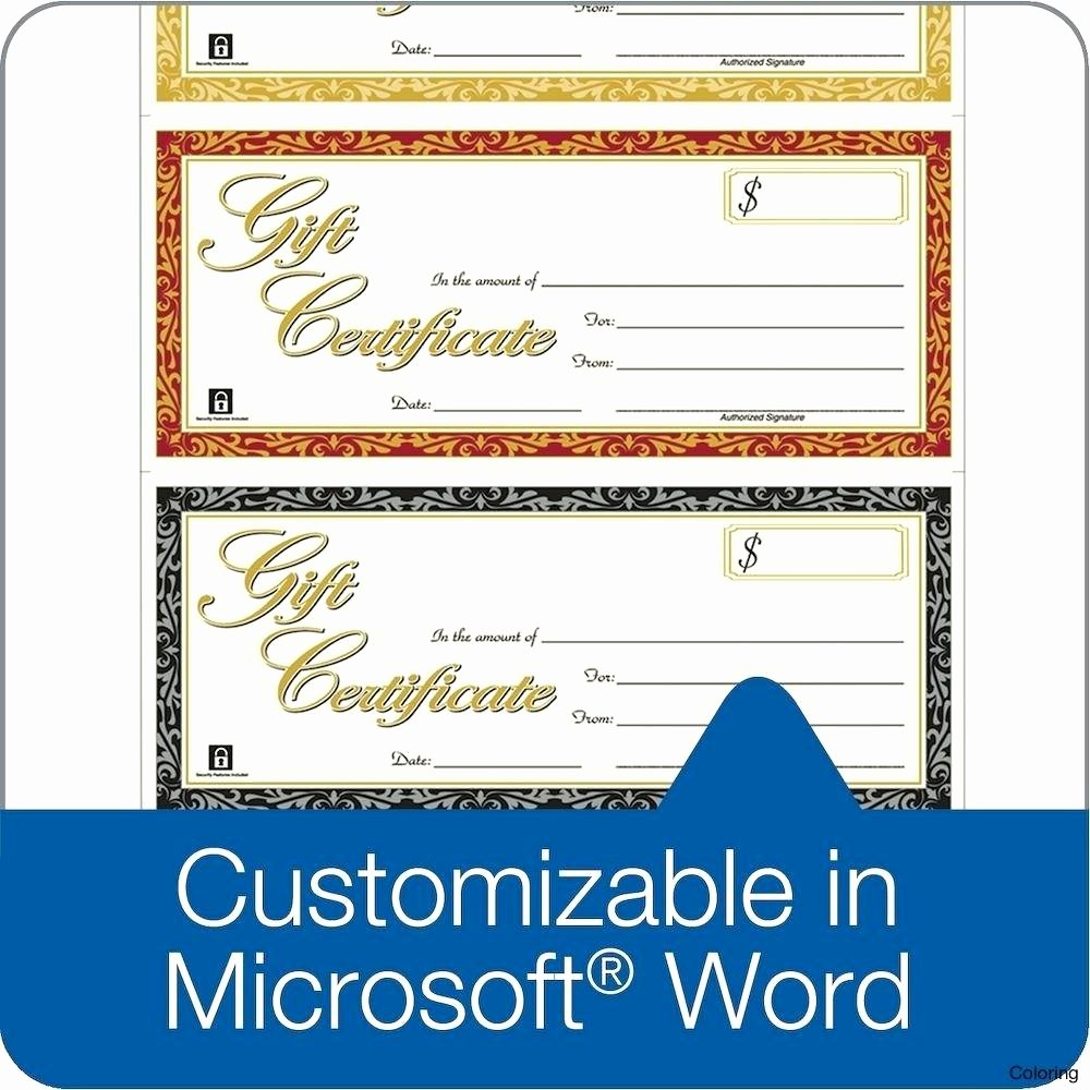 Word Template Gift Certificate Lovely Template Gift Certificate Template Word 2010