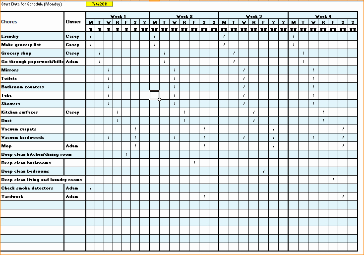 Work Cleaning Schedule Template Luxury 5 Cleaning Schedule Template