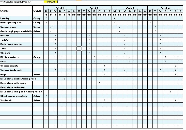 Work Cleaning Schedule Template New Cleaning Schedule Template Cleaning Schedule Template
