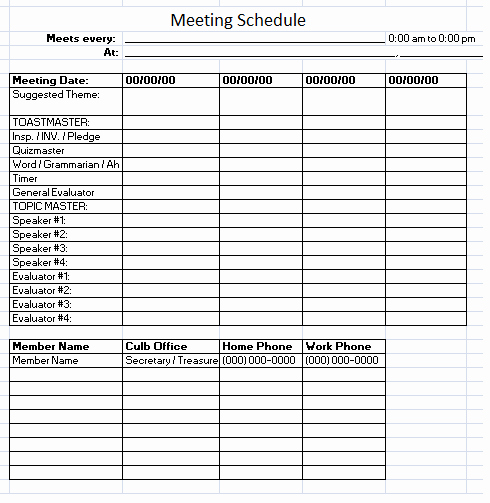Work Cleaning Schedule Template Unique Meeting Schedule Template 10 Free Templates Schedule