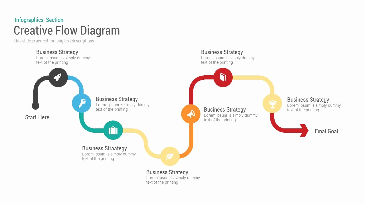 Work Flow Chart Template Awesome Business Flow Diagram Powerpoint Template & Keynote