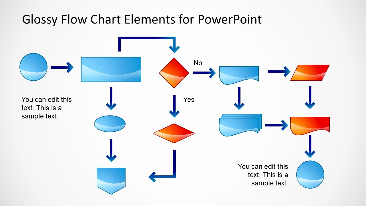 Work Flow Chart Template New Glossy Flow Chart Template for Powerpoint Slidemodel
