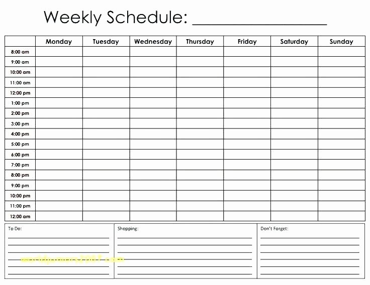 Work Hour Schedule Template Fresh X Hour Calendar Template Week top Result Work Schedule