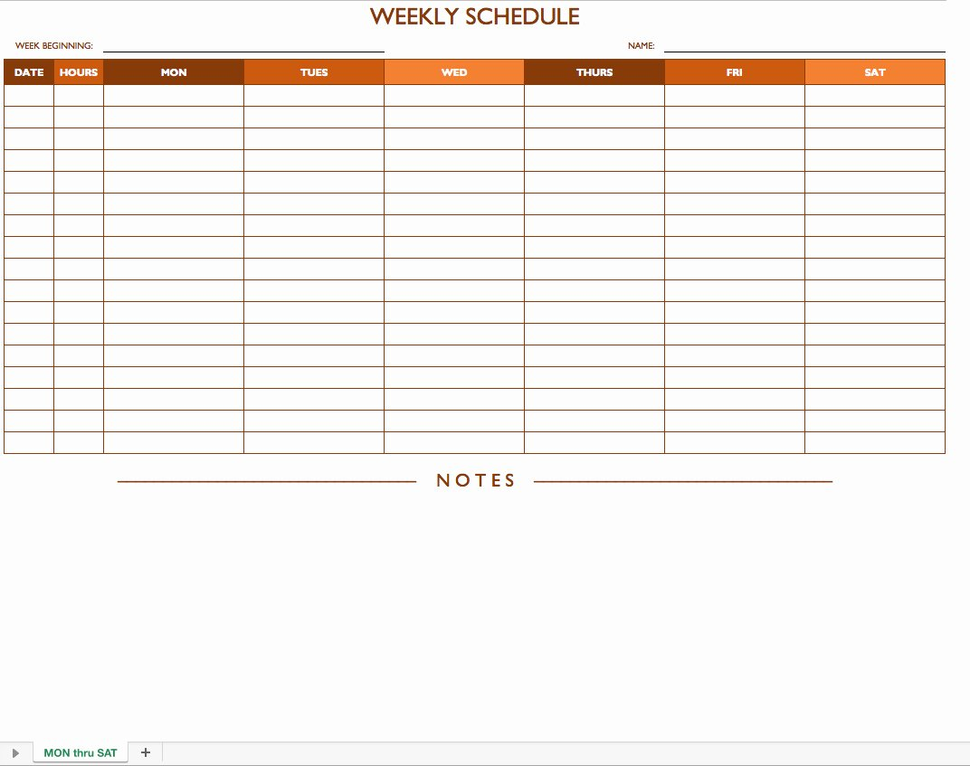 Work Hour Schedule Template Inspirational Free Work Schedule Templates for Word and Excel