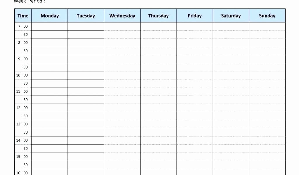 Work Hour Schedule Template Lovely 8 Hour Shift Schedule Template Luxury Excel for Work Man