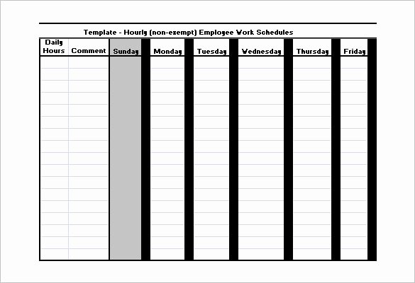Work Hour Schedule Template Lovely Employee Work Schedule Template 16 Free Word Excel