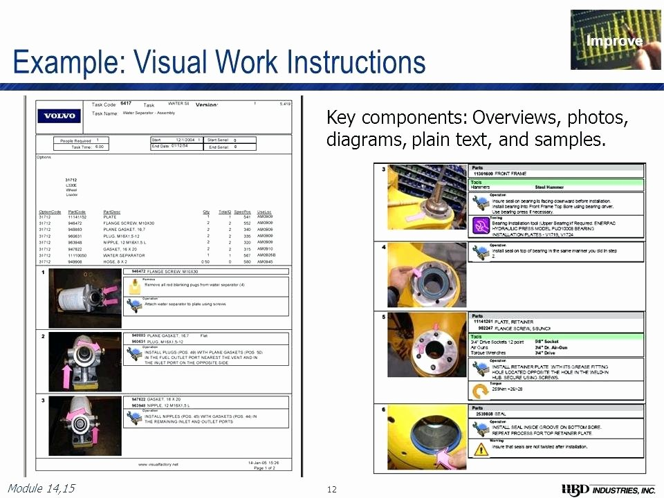 Work Instruction Template Excel Lovely Manufacturing Instructions Template Free Visual Work