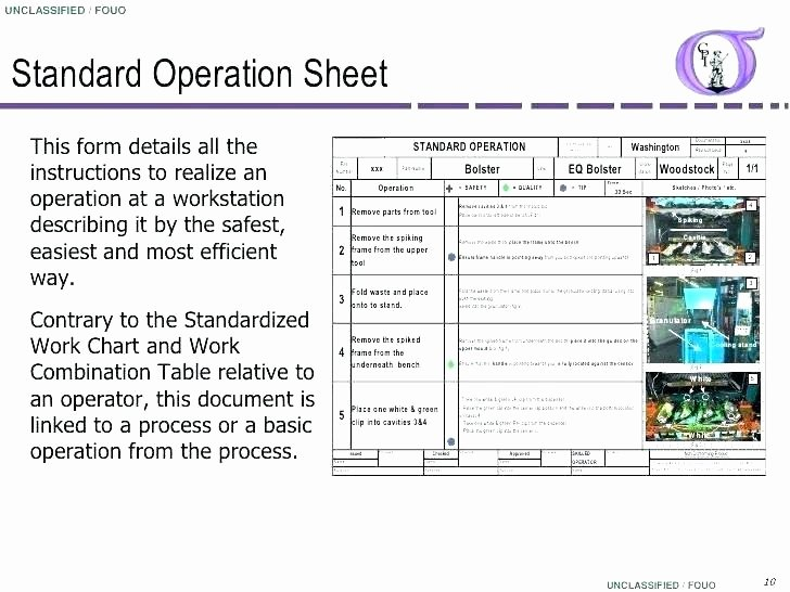 Work Instruction Template Excel Lovely Standard Work Instructions Template
