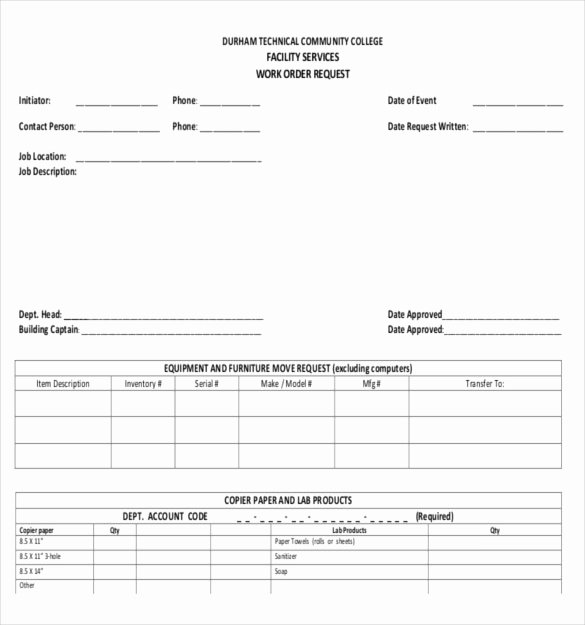 Work order form Template Best Of 26 Work order Templates Numbers Pages