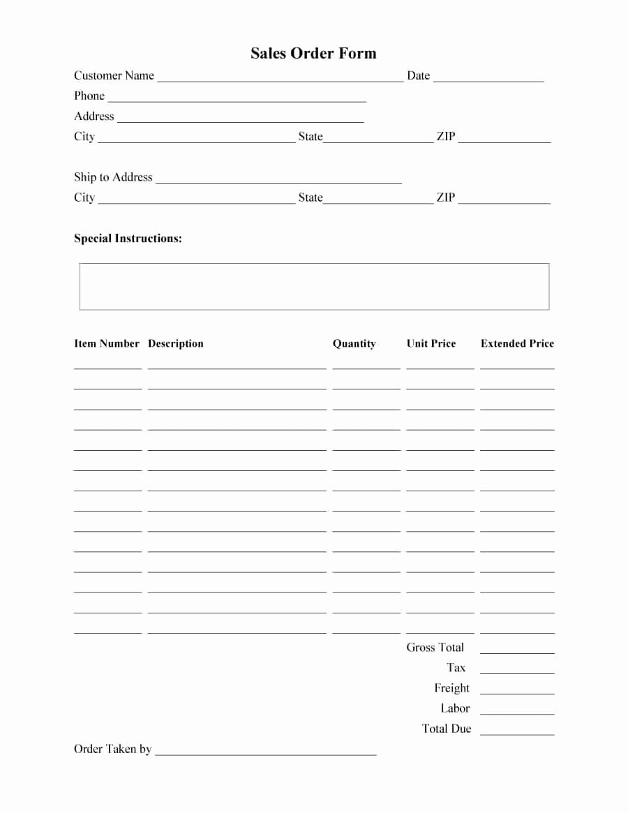 Work order form Template Elegant 40 order form Templates [work order Change order More]