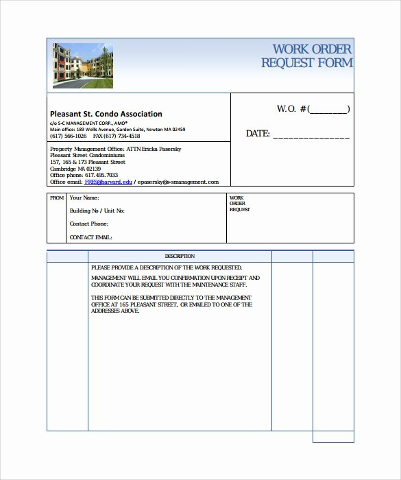 Work order form Template New 14 Work order Samples – Pdf Word Excel Apple Pages