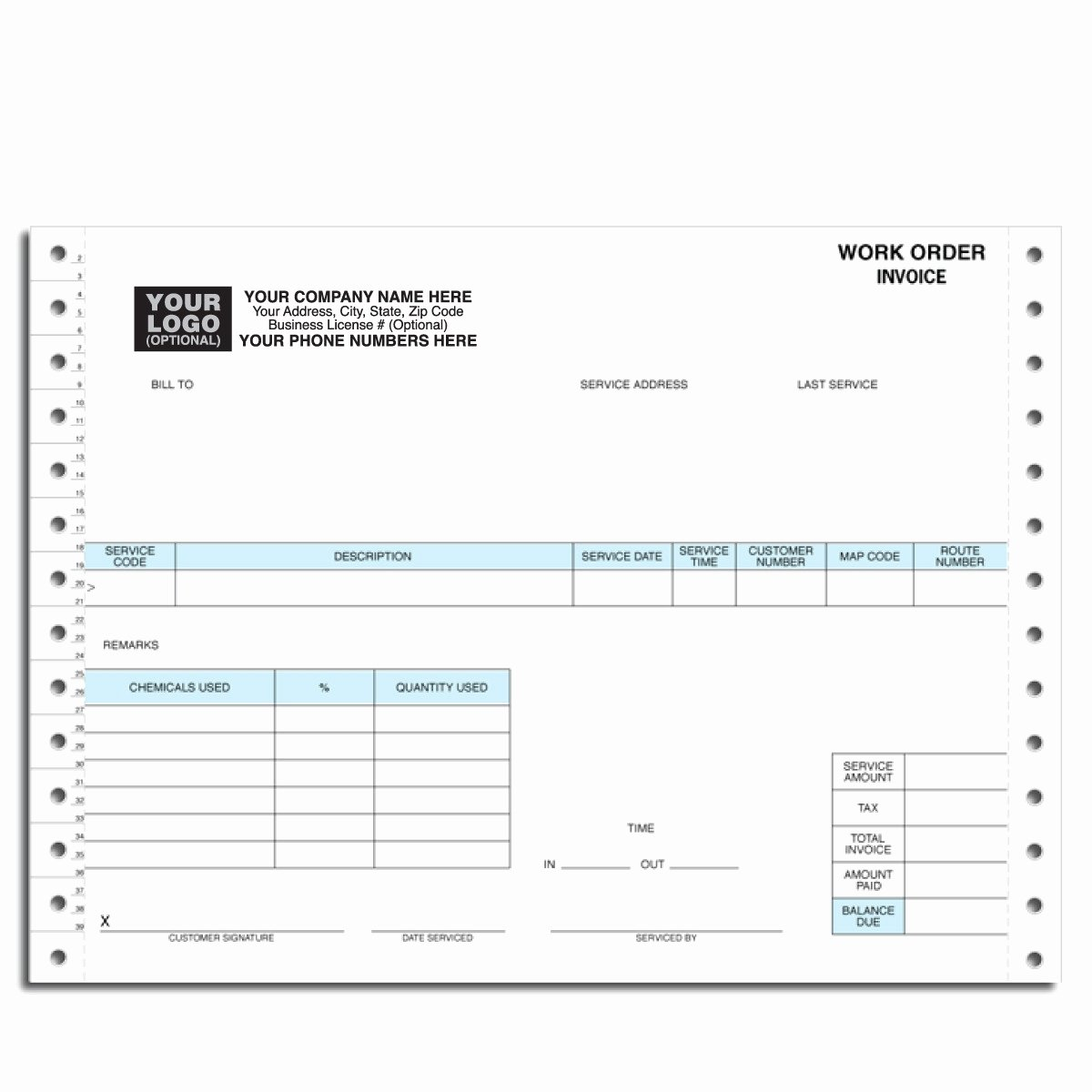 invoice order form
