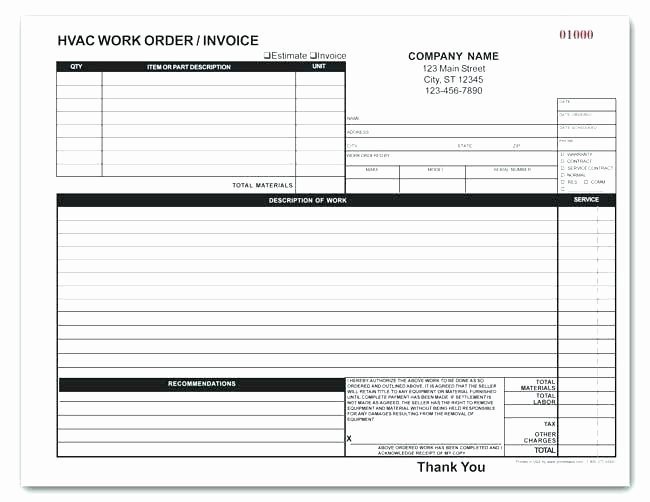 Work order Invoice Template Best Of Free Printable Maintenance Work order forms Sample Blank