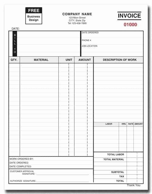 Work order Invoice Template Lovely Work order Invoice Template Free and Free Printable Work