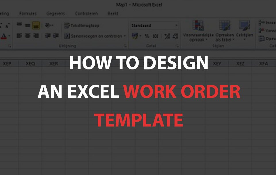 Work order Template Excel Lovely How to Design An Excel Work order Template