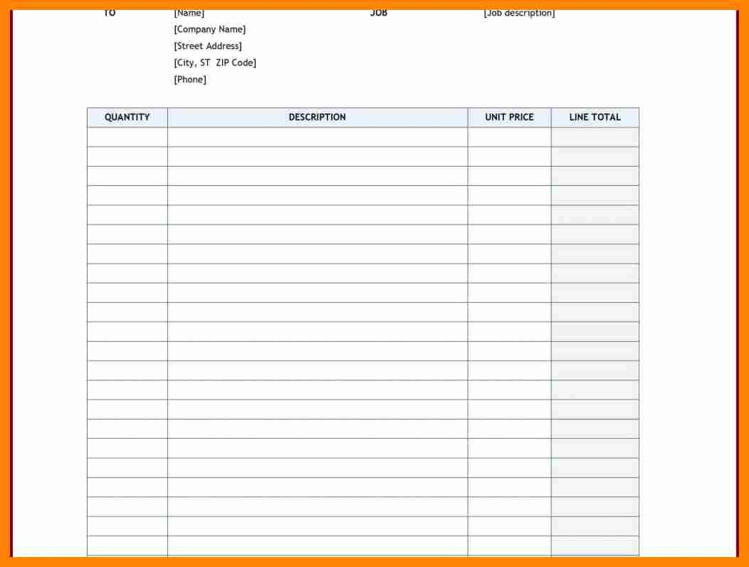 Work order Template Free Inspirational Free Printable Work order Template