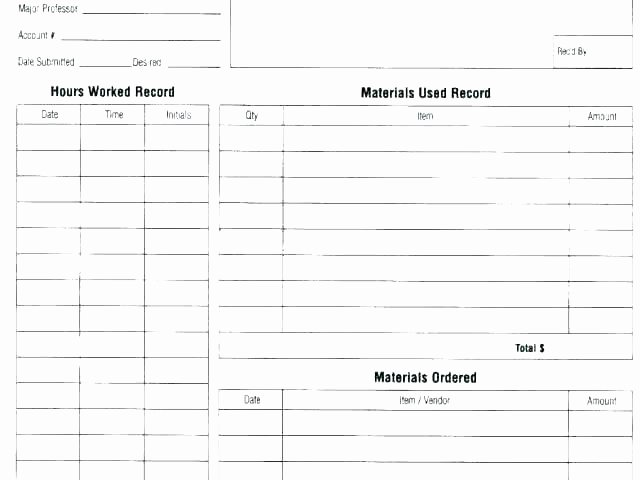 Work order Template Microsoft Word New Daily Work Log Templates Word Excel Template 2003