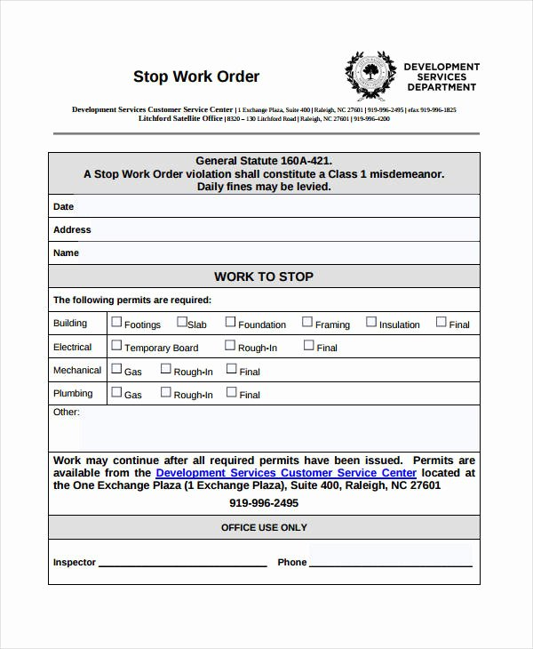 Work order Template Pdf Unique Work order Templates 9 Free Pdf format Download