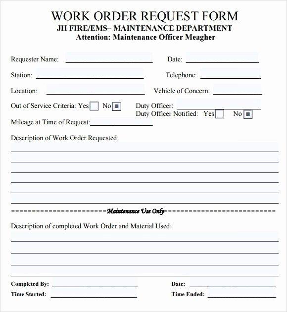 Work order Template Word Beautiful Work order Template Word [doc] Free Work order Templates