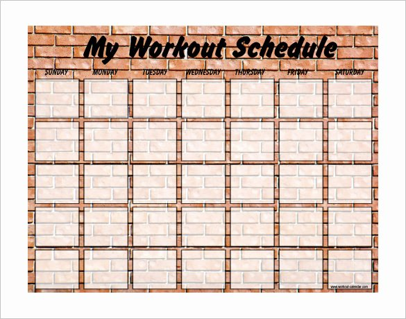 Work Out Schedule Template Awesome Exercise Schedule Template – 7 Free Word Excel Pdf