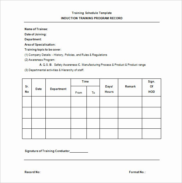 Work Out Schedule Template Awesome Training Schedule Template 7 Free Sample Example