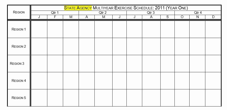 Work Out Schedule Template Beautiful 8 Free Sample Exercise Schedule Templates Printable Samples