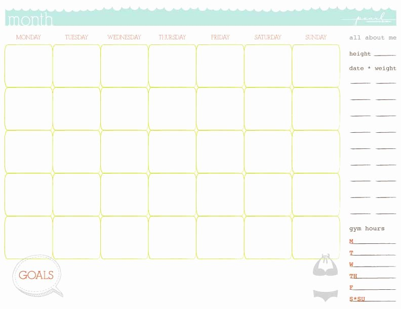 Work Out Schedule Template Best Of 5 Workout Calendar Templates Excel Xlts